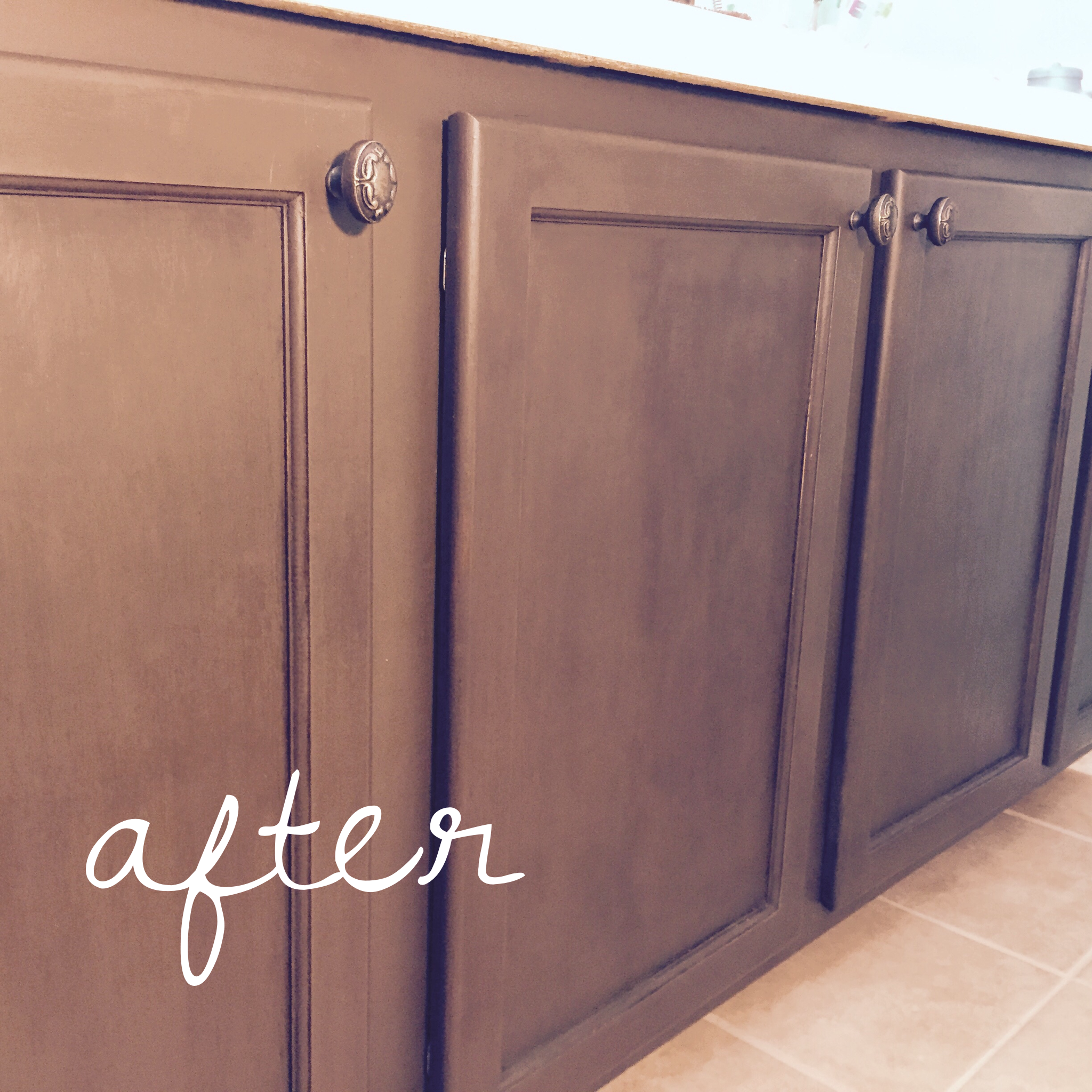 Paint Cabinets Brown