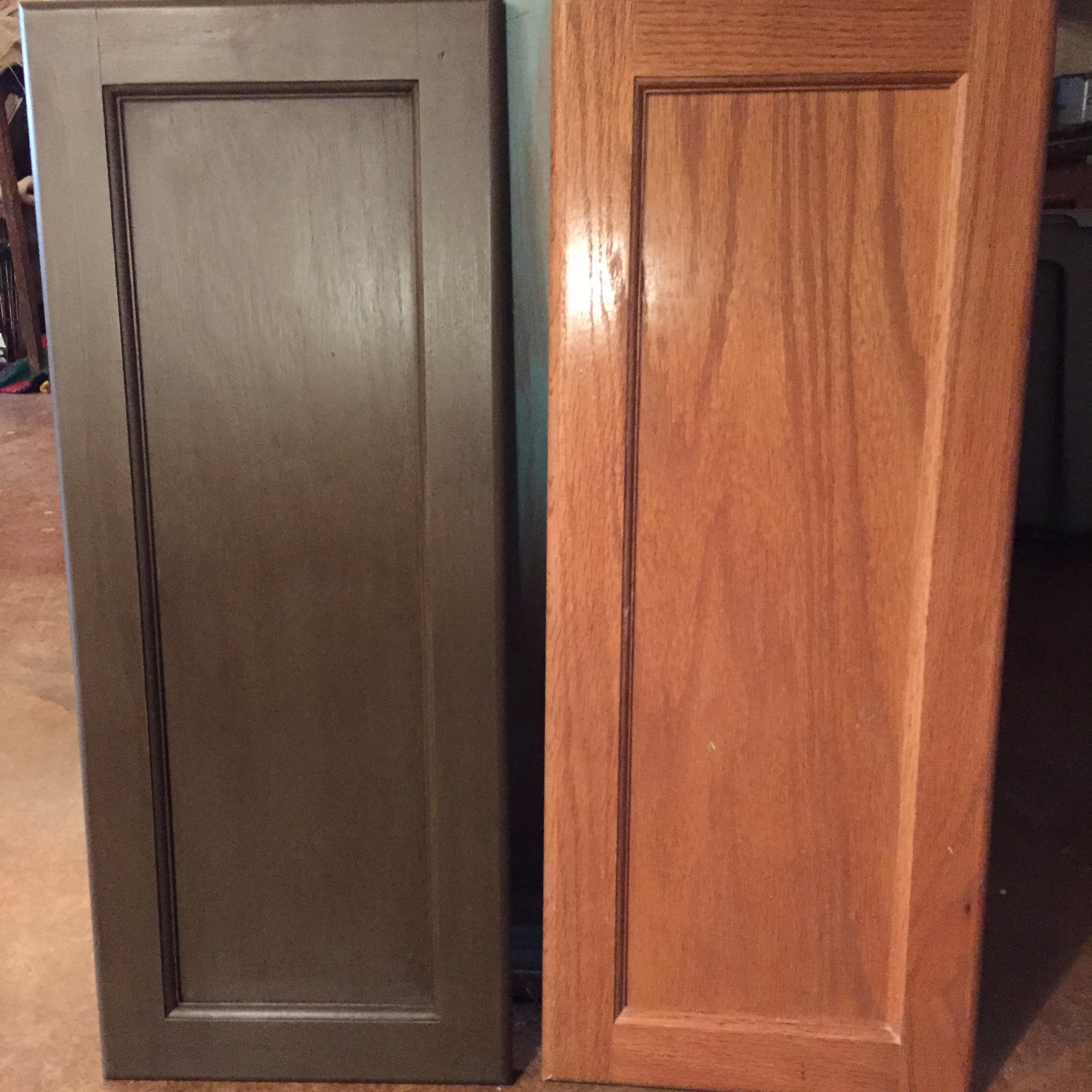 Annie Sloan Dark Chocolate Brown Master Bathroom Cabinet Makeover